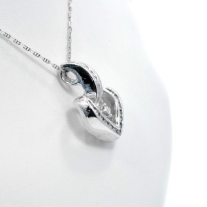 14K White Gold Diamonds Diamond Heart Pendant