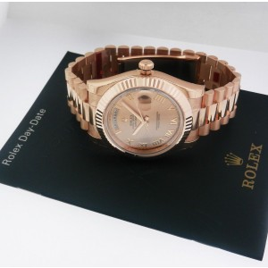 Rolex 218235 Day Date II Rose Champagne Roman Dial President