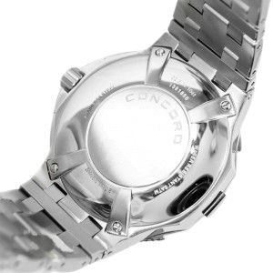 Concord Saratoga Date Stainless Steel Quartz Men's Watch