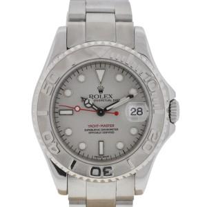Rolex 168622 Midsize Yachtmaster 35mm Stainless Steel Platinum Watch