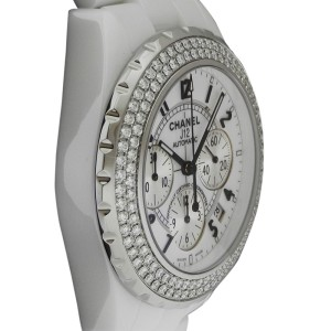 Chanel J12 H1008 White Ceramic Diamond 41mm Watch