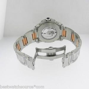 Cartier Auto Calibre de W7100036 Steel & Gold Silver Dial Mens Watch