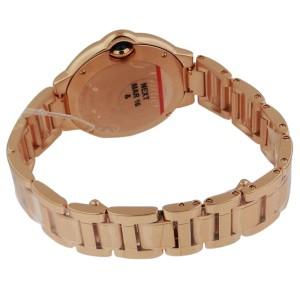 Cartier Ballon Bleu18K Rose Gold Diamond Case 33mm Watch