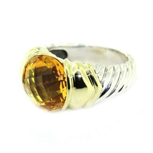 David Yurman 14K Yellow Gold & Sterling Silver Topaz Capri Ring