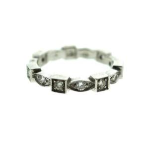 Platinum On White Gold Diamond Band Ring