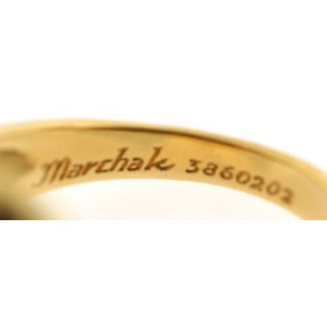 Marchak 18k Yellow Gold Camellia Ring