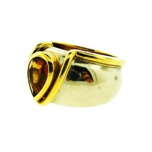 18K Yellow Gold & Citrine Ring