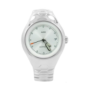 Alessi AL11000 Guido Venturini Stainless Steel White Dial Automatic 38mm Watch