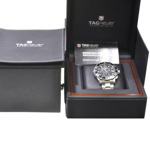 TAG Heuer Aquaracer Mens Chronograph Stainless Steel Watch BNP CAN1010