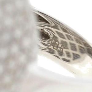 18K White Gold Large Dome Diamond Ring