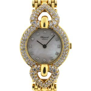 Chopard 18K Yellow Gold Diamond MOP Ladies Quartz Watch