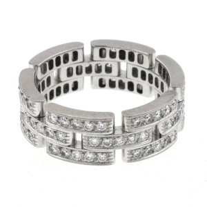 Cartier Maillon Panthere 18K White Gold Diamond Band Ring