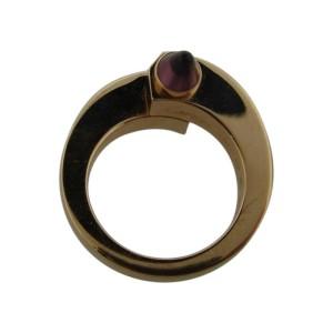 Cartier Menotte 18k Rose Gold & Rhodolite Garnet Bypass Ring