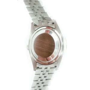 Rolex 116264 Datejust Oyster 18k Gold Bezel Stainless Steel Stick Dial Date Mens Watch