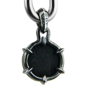 David Yurman Solid Sterling Silver Petrus Griffin Amulet Onyx Pendant