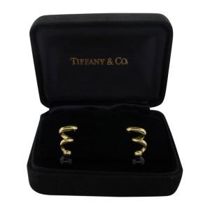 Tiffany & Co. 18k Yellow Gold & Onyx Earrings