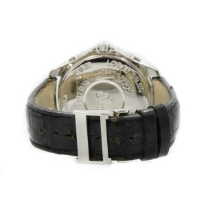 Jacob & Co. 5 Time Zone 2.0ct Diamond Bezel Silver Dial Stainless Steel Mens Watch