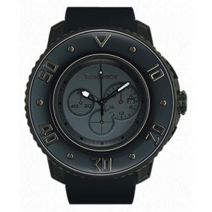Tendence 02106002 Dark Grey Rubber Band Titanium Quartz Mens Watch