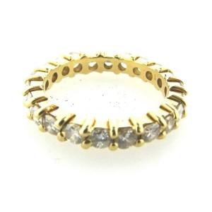 18K Yellow Gold & Diamond Band