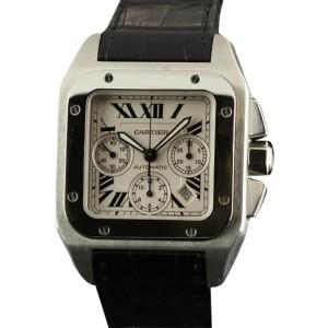 Cartier Santos 100 XL W20090X8 Automatic Chronograph Leather Watch