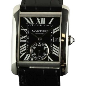Cartier Tank MC W5330004 Stainless Steel Leather Watch