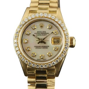 Rolex Datejust 69178 Yellow Gold MOP Diamond Ladies 26mm Watch