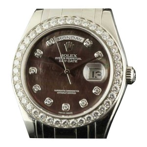 Rolex Day-Date 18946 Special Edition Masterpiece 39mm Mens Watch