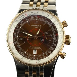 Breitling Montbrillant Legende C23340 Steel Rose Gold Brown Watch
