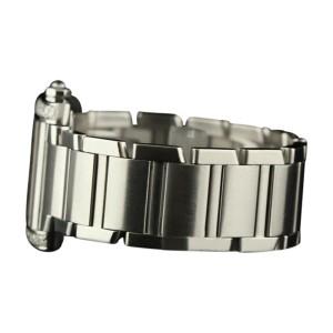 Cartier Tank Francaise Large W51002Q3 Diamonds Steel Silver Watch