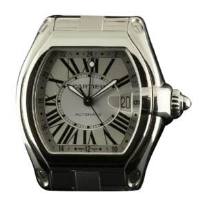 Cartier Roadster GMT XL W62032X6 Steel Silver Automatic Watch