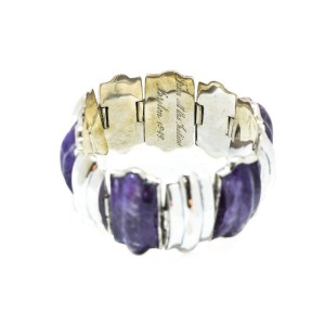 Sterling Silver Purple Amethyst Bracelet