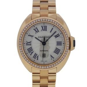 Cartier WJCL0003 18K Rose Gold with Original Diamonds 31mm Ladies Watch