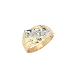 14K Yellow Gold Mens Ring