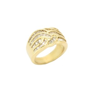 14K Yellow Gold Baguette Cut Diamond Ring