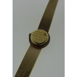 Baume & Mercier 14K Yellow Gold & Diamond Watch Circa 1950s