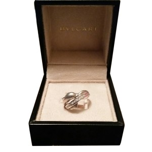 Bulgari 14K White Gold Dolphin Diamond Ring