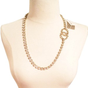 Vintage Chanel CC Rhinestone Necklace