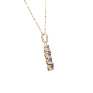 14K Yellow Gold Tanzanite 0.65ct. Women's Necklace