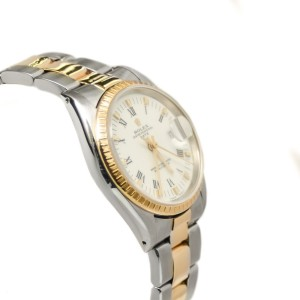 Rolex Date 15223 18K Bezel Two-Tone 34mm White Dial Automatic Men's Watch