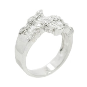 White White Gold Diamond Womens Ring Size 6.5