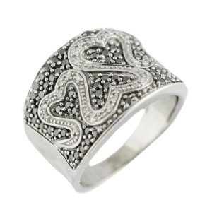 White White Gold Diamond Mens Ring Size 8.5