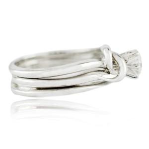 White White Gold Diamond Womens Ring Size 3.5