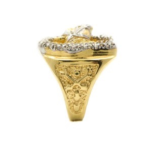 Yellow Gold Mens Ring Size 8