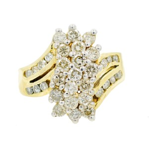 Yellow Gold Diamond Womens Ring Size 5.5