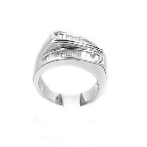 White White Gold Diamond Womens Ring Size 10.5