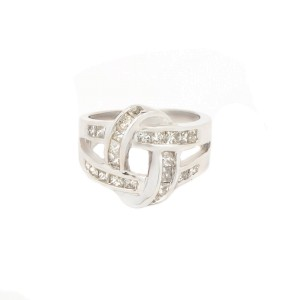 White White Gold Diamond Womens Ring Size 6.5