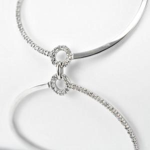 Tennis Bracelet 14 K White Gold 14 grams 1.80 Ct Diamonds Women's