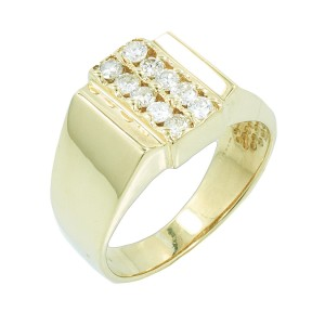 Yellow Gold Diamond Ring Size 7.5
