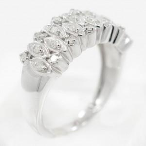White White Gold Diamond Ring Size 6