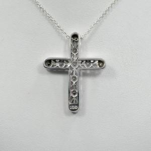 Diamond Cross 0.70CT 14K White Gold 6.5gram